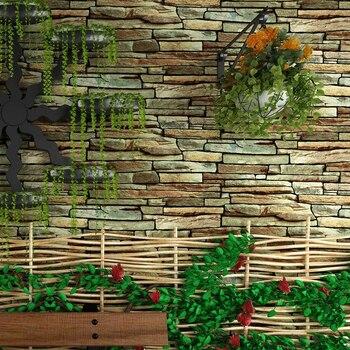 3D Faux Pietra Muro di Mattoni Carta Da Parati Rotolo Per Pareti Vintage Impermeabile IN PVC Soggiorno Sfondo Carta Da Parati In Vinile Della Parete Che Copre