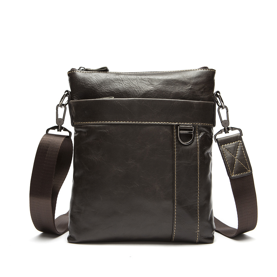 2017 new genuine leather men bag fashion men's bags messenger men casual business small bag real leather men cross body bag new trend sale men s genuine leather business casual messenger shoulder bag tablet satchel cross body book bag black t0985