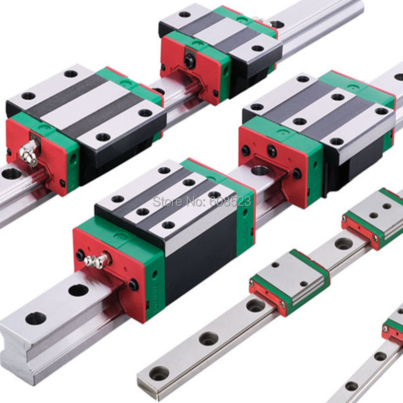 6PCS Linear Rail HIWIN HGR20- L450/950/1150mm With 12pcs  HGH20CAbearing block Guideway Block Carriages+3ballscrew+3BKBF12