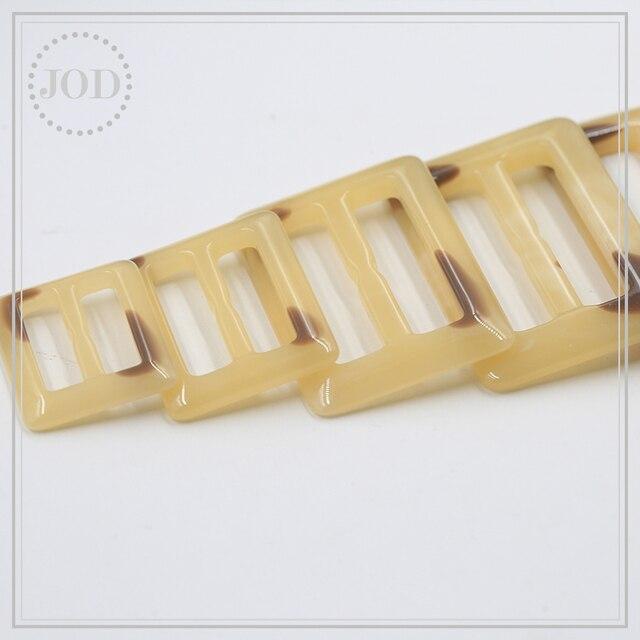 Boucle pour vêtements foulard   Bouton de 25/30/40/45/50mm ajustable boucle T-shirt accessoires de vêtement nœud Tri-glides sangle formée par fil JOD