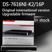 In stock Free shipping DS-7616NI-K2/16P English version 2SATA 16 POE ports 4K 16ch NVR plug & play NVR up to 8MP