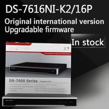 Auf lager Kostenloser versand DS-7616NI-K2/16 P Englisch version 2 SATA 16 POE ports 4 Karat 16ch NVR plug & play NVR bis zu 8MP