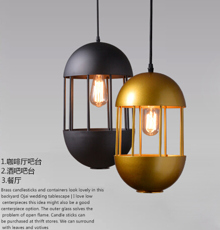 American Country Fashion Loft Style Oval Wrought Iron Retro Pendant Light Restaurant Cafe Balcony Vintage Light Free Shipping industrial style restaurant light solid wood dinging room pendant light american country wrought iron cafe lights free shipping