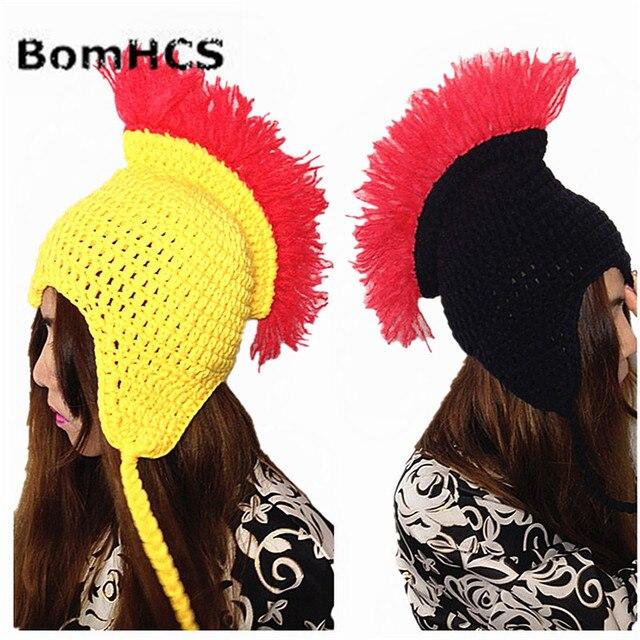BomHCS Legal Novidade Hippie Rocha Nepal Handmade Gorro de Malha Dos Homens  de Chapéu de Inverno b1b708027dd
