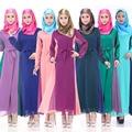 Malásia Novas Mulheres Vestido Longo Muçulmano Islâmico Vestidos de Chiffon Senhoras Vestido de Mangas Compridas Roupas 6 Cores Disponíveis