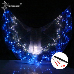 Image 2 - Belly Dance LED Wings Colorful LED Dance Props Newest LED ISIS Wings Adults Belly Dance Professional Accessory With Sticks