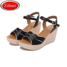 2019 New classic Non-slip Wedge women sandals fashion high heel  summer Rome sandals women solid color zipper 34-43 size цены