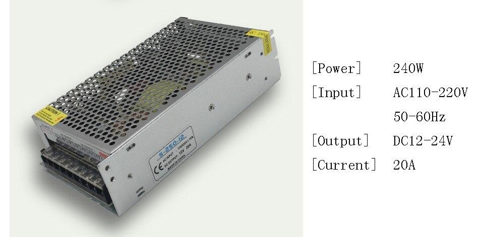 DC 12V LED strip driver Power Adapter 1A 2A 3A 5A 10A 15A 20A Switch Power Supply AC110V-220V 24V Transformer Power 60W 78W 120W(6)