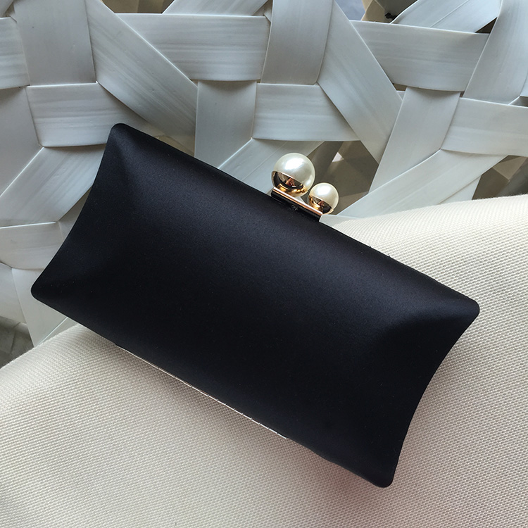 Women Pearl Evening Bags Earth Round Shaped Clutch Purse