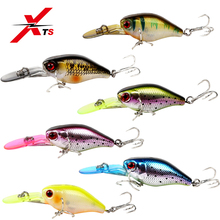 XTS Fishing Lure Artificial  Hard Bait Crankbait Wobblers 50mm 5g Slow Sinking Minnow Lures With Colorful Lip 5316