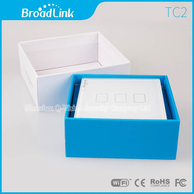 6---Broadlink UK Standard TC2 3 Gang Wireless Remote Control Wifi Wall Light Touch Switch RF433MHZ AC110V-240V Smart Home Automation
