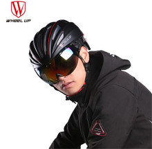WHEEL UP Bicycle Bike Aerodynamic EPS PC Material Lens Cycling Helmet Light Mountain Bike Helmet MTB Bicycle Helmet