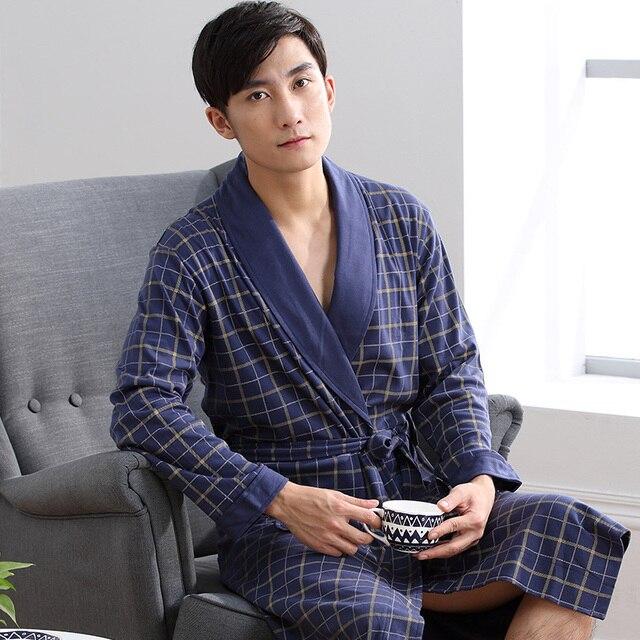 2016 зима мужчины пижамы длинные мужские халат мужчины халат халат сексуальный сетка sheer гей износ мужчины lounge топы кимоно пижамы одежда