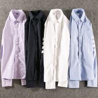 2018 New Fashion Casual Men Shirt Long Sleeve Mandarin Collar Slim Fit Shirt Men Korean Business Mens Dress Shirts Men Clothes