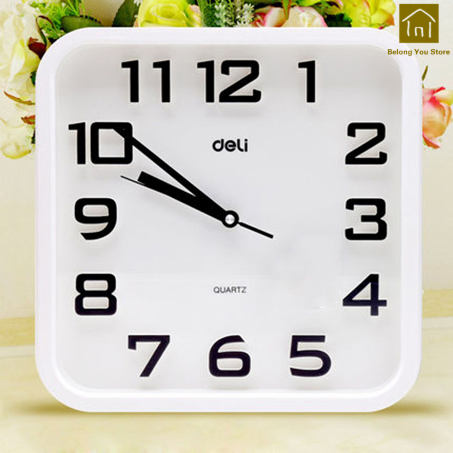 Simple Mute Square Wall Clock Living Room 3D Wall Clock Digital Designer Clocks Orologio Parete Time Decorative Supplies WKP148