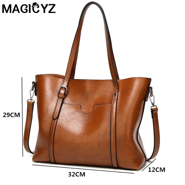 Women bag Women's PU Leather Handbags Luxury Lady Hand Bags With Purse Pocket Women messenger bag Big Tote 5