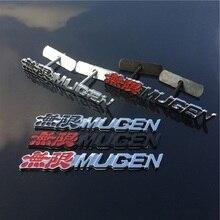 3D aluminium do obiektu Mugen godło chrom Logo z tyłu odznaka dla naklejka na bagażnik samochodu samochód stylizacji dla Honda Civic Accord CRV fit akcesoria samochodowe