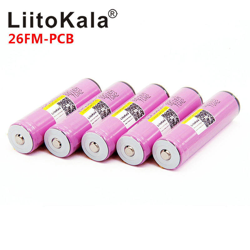 LiitoKala 18650 2600 Mah ICR18650-26FM 3.7V 18650 Capacity Rechargeable Li-ion Battery For LED Flashlight Torch Battery