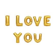 1 ensemble de ballon en aluminium 16 pouces | Ballon à hélium pour spectacle lettres I Love YOU, décoration murale pour fête de mariage et saint valentin