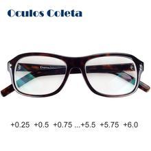 Gafas de lectura de presbicia de estrella de cine opticas para hombre y mujer diseño de gran tamaño + 0,00 ~ + 6,00