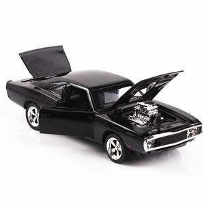 Image 1 - 1/32 Diecasts & Toy Vehicles the fast and the Furious Dodge Car Модель со звуком и светильник, коллекция, Автомобильные Игрушки для мальчиков, подарок для детей