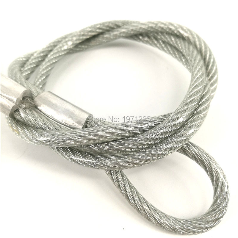 50pcs XR35 Safety Rope With Silver White Stainless Steel Wire Safety Rope&Stage Light Safety Ropes For Par Light Led Moving Head