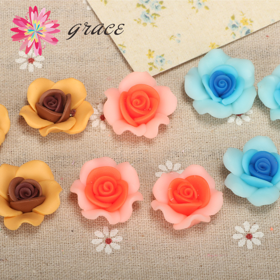 Necklace Hair Clay Rose