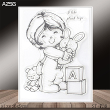 AZSG Ragdoll Clear Stamps/Stamp/For Scrapooking/Card Making/Silicone Stamps/Decoration  Crafts ragdoll
