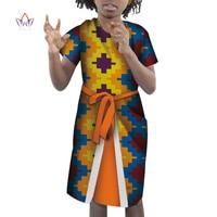 Summer Dashiki Girl Clothes Kids Baby Girl Dress african clothing for children Knee Length Fashion knee length Dress BRW WYT282