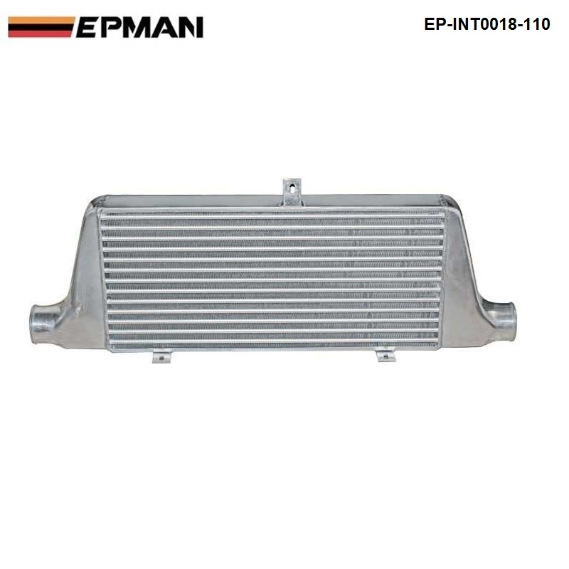 EPMAN -Universal Lightweight Aluminum Fin turbo Type Intercooler 76mm Core Size :600x280x76MM EP-INT0018-110 epman universal 2 25 inch 57mm turbo intercooler aluminum pipe silicone hose kit black length 600mm for bmw e60 ep lgtj57 600
