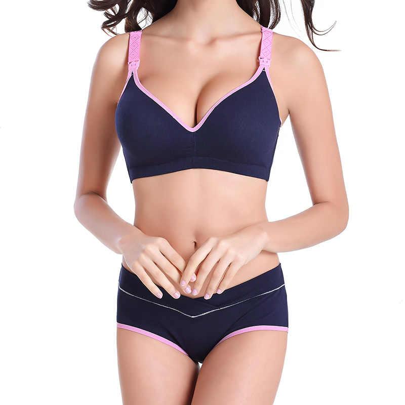 a2583b82ea4e0 ... Maternity Nursing Bra+Pants Underwear Set Breastfeeding bra for  Pregnant women Pregnancy Feeding Underwear Briefs ...
