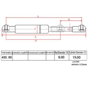 Image 5 - Fit Dodge Ram 2500 3500  DZ43300 SG314900 Tailgate Assist Shock Struts Lift Support