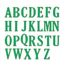 26pcs/Set 5cm Large Letters A-Z Alphabet Metal Cutting Dies Stencil for DIY Scrapbooking Photo Album Embossing Paper Cards Craft