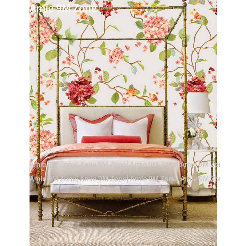 Tuya Art Retro florals romantic mural wallpaper for living ...