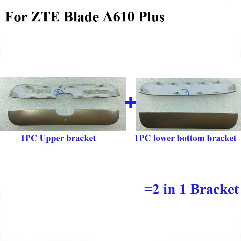 For <font><b>ZTE</b></font> <font><b>Blade</b></font> A610 Plus A 610 Plus <font><b>A610plus</b></font> A610+New Rear Back Door Cover Upper bracket and lower bottom bracket Cover 2 in 1 image