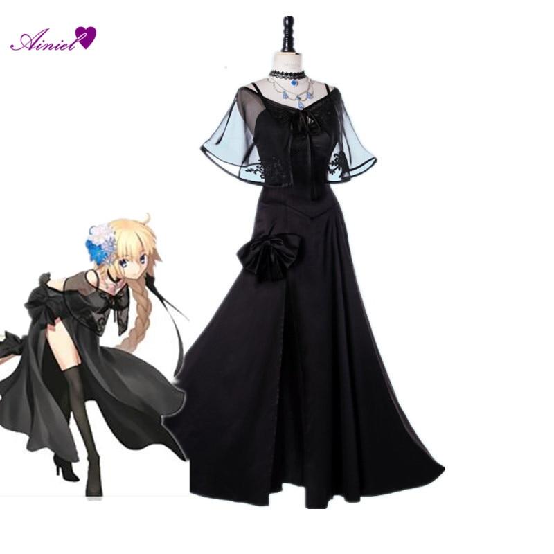 Fate/Zero Joan of Arc Black Cosplay Costume Fate Grand Order Costume Fate Apocrypha Jeanne Cosplay Dress FGO Cosplay Headwear
