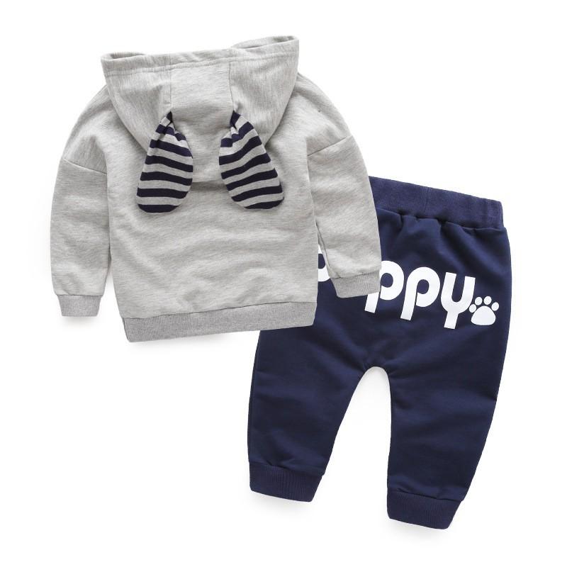 80-115cm Cute Bear Kids Boy Girl Clothing Set Children Clothes Set Casual Cartoon Hooded Sweatshirt Boys Fashion Hoodies (9)