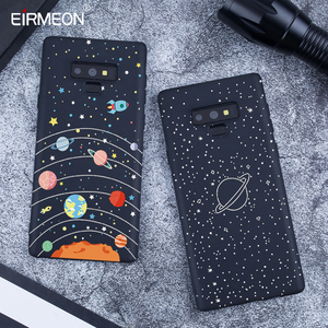 Image 2 - Pattern Case For Samsung Galaxy A6 Plus 2018 Note 9 A8 S9 S8 Plus S7 Edge A5 A3 A7 J7 J5 J3 2017 Black Matte Luxury back Covers