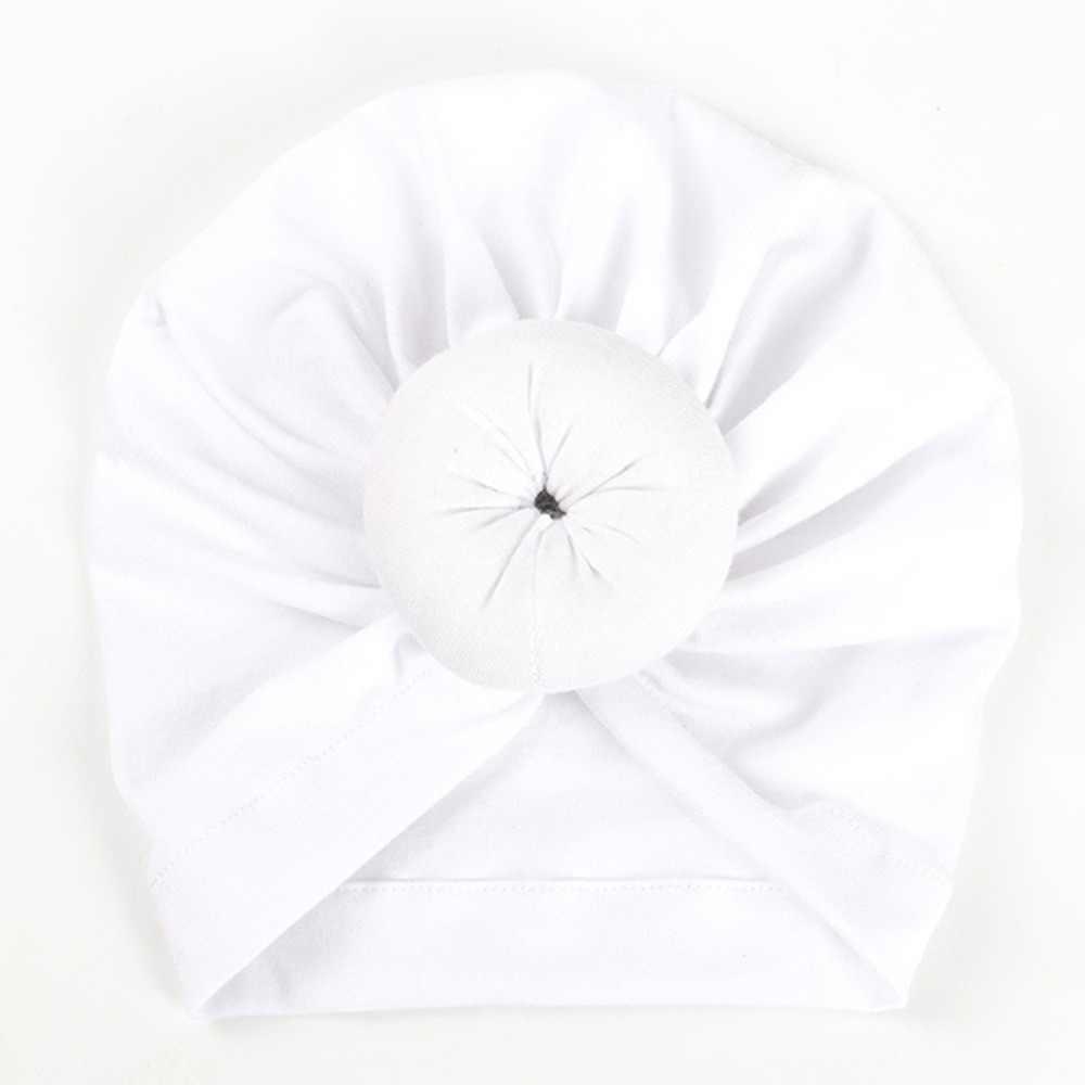 Новинка; однотонные шапки с пончиком для маленьких девочек; BeBek Turban Hood; однотонная завязанная шапка унисекс; мягкие милые хлопковые шапки; аксессуары для новорожденных