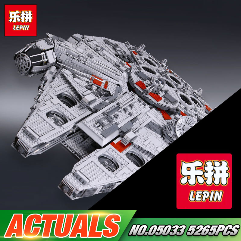 LEPIN 05033 Star Series War 5265Pcs Ultimate Collector's Millennium Toys Falcon Model Building Kit Blocks Bricks Set Toy 10179 lepin 05033 5265pcs star ultimate kits collector s millennium toys falcon model building blocks bricks kids war toys gifts 10179