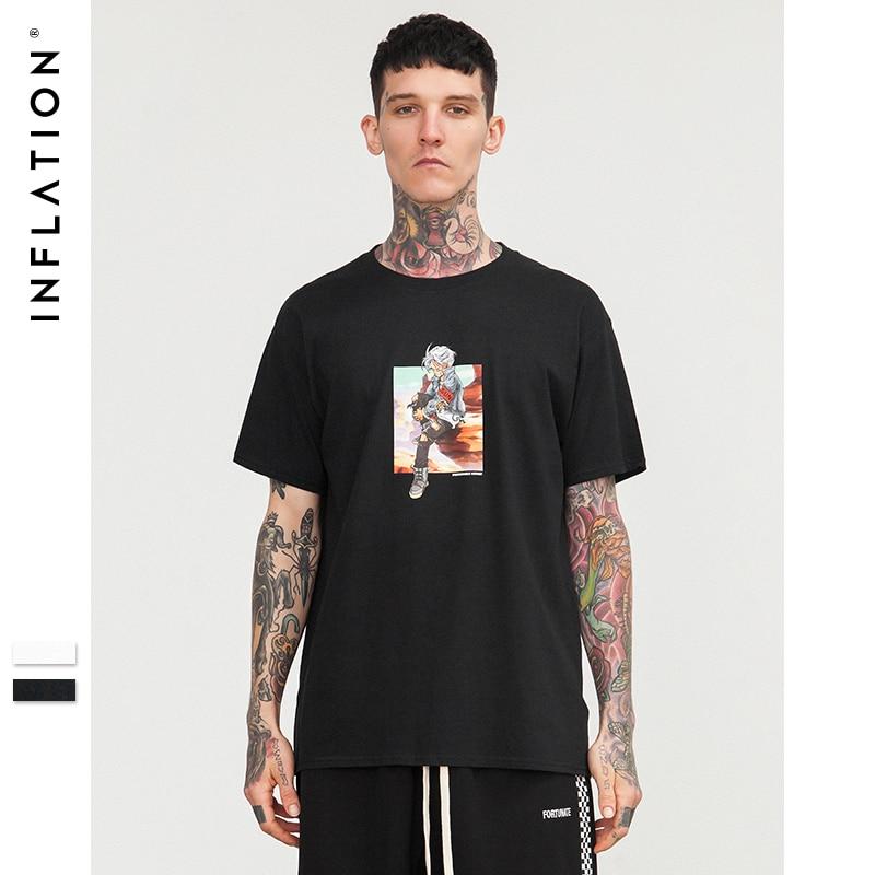 L'INFLAZIONE 2018 SS Collezione Top Magliette Degli Uomini 100% Cotone di Marca T shirt Uomo Casual T shirt O-Collo Hip Hop T camicia 8221 s