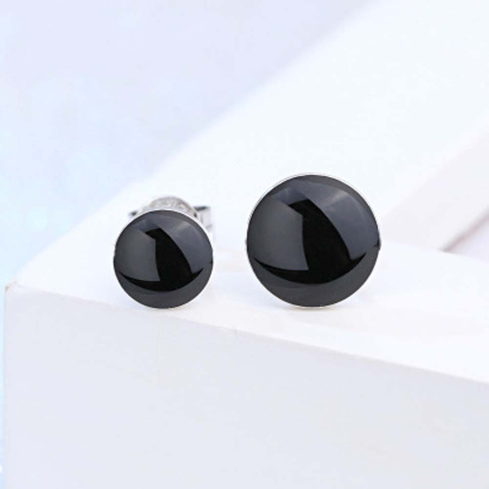 New Listing Male Fashion Earrings Popular Jewelry Black Crystal Earrings Retro Earring Women Jewellry Gifts