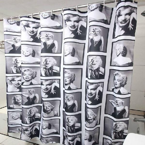 180 cm * 180 cm di Modo Sexy Marilyn Monroe Modello Impermeabile Mouldproof Bagn