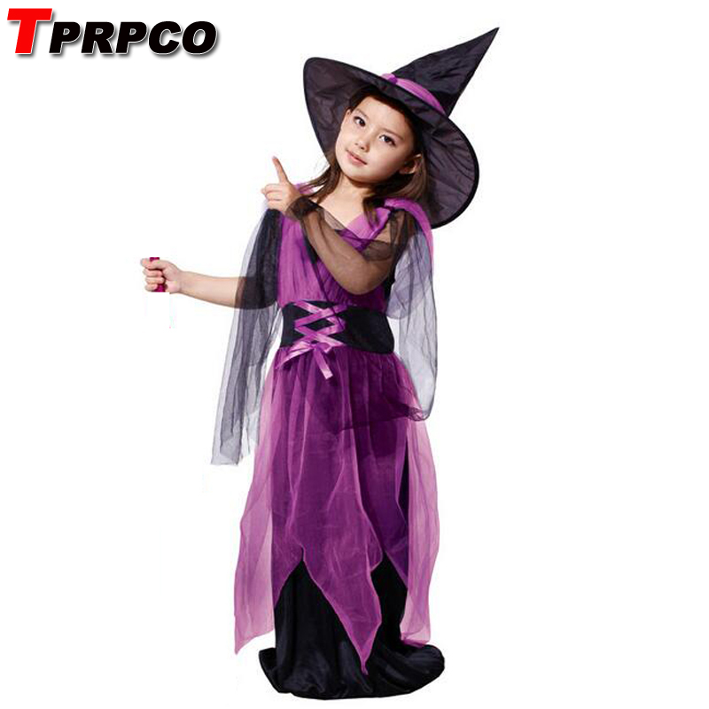 TPRPCO Witch costume Kids Halloween costumes children suit gauze female witch clothes NL128