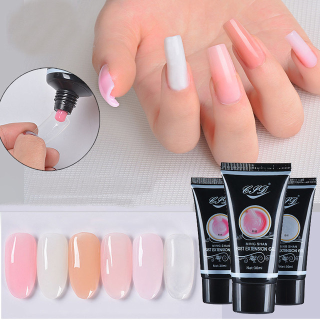 Dazzling 2018 New Arrival Rosa Nail Gel Tips Extension Camouflage Builder Lack Glue