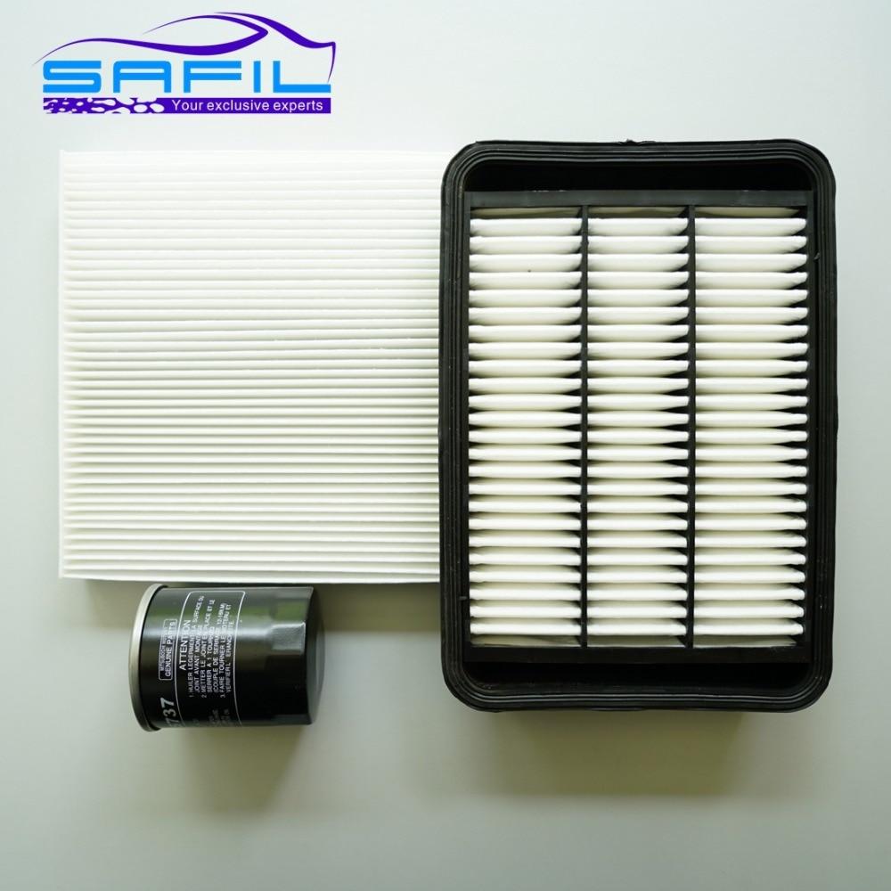 Ensemble filtres pour Mitsubishi Lancer-ex OUTLANDER EX filtre à air + cabine filtre à air + filtre à huile oem: 1500A023 27277-4M400 MD135737