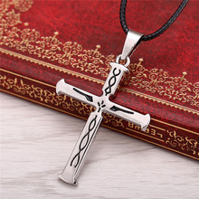Julie Anime Guilty Crown Cross Pendant Necklaces Fashion floating lock