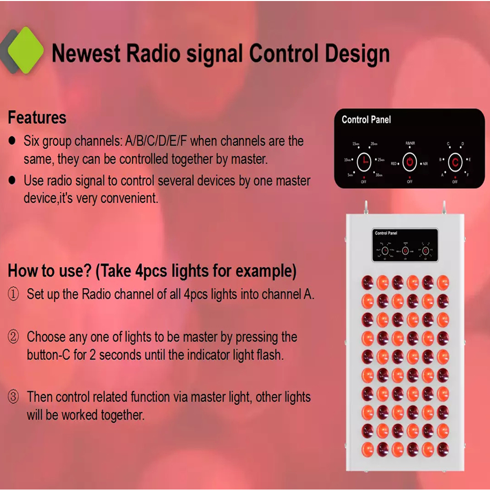 2019 Professional  led panel red therapy full body low emf red light therapy 660nm 850nm 300w 400w led therapy light