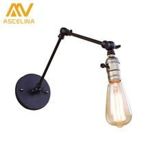 Настенный светильник Эдисон лампа длинные Рука переключатель настенный светильник Лофт кантри освещение ретро промышленности старинные железа бра