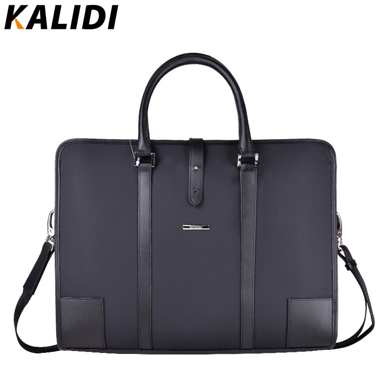 KALIDI Mens Leather Laptop Bag Protective Business Shoulder Messenger Sleeve Case for 13 13.3 14 15 15.6 Inch Notebook Bag notebook bag laptop messenger 11 12 13 14 15 for macbook air 13 case lenovo samsung dell asus waterproof travel briefcase